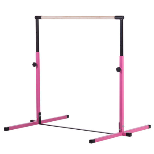 Pink Adjustable Horizontal Kip Training Bar Gymnastics Junior Kip Bar