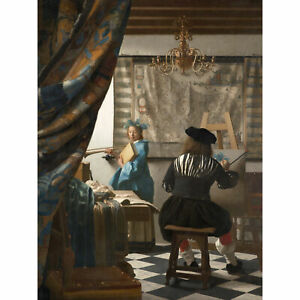 Jan-Vermeer-The-Art-Of-Painting-Large-Canvas-Art-Print