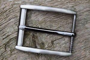 "Metal Belt Buckle TO FIT 35mm 1 3//8""  BELT silver gun metal colour nickel W"