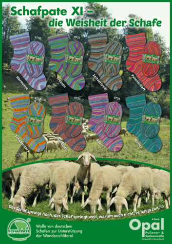 100g Opal sock yarn Schafpate XI 4-fach Wool Colour Gradient Yarn