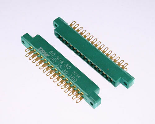LOT OF 10 50-30A-30 CINCH connector PC Board Card Edge