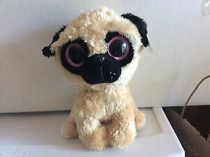TY Beanie Boo PUGSLY the Pug Dog 9