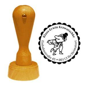 Stempel « JUDO » Adressenstempel Motiv Name Kampfsport Sport Japan Verein Kampf