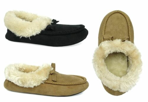 WHOLESALE LOT 24 pairs Moccasin Slipper Boot Faux Fur Nice Warm comfy-3018L
