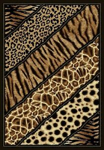 6 X 8 African Safari Animal Skins Print Lines High