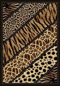 6 X 8 African Safari Animal Skins Print Lines High