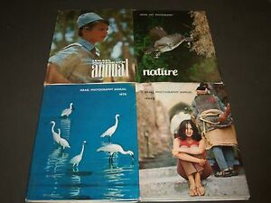1968-1970 ISRAEL PHOTOGRAPHY ANNUAL BOOKS LOT OF 4 - NICE PHOTOS - KD 795