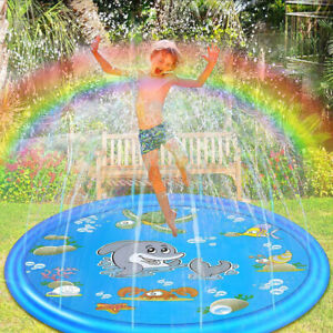 100CM-Children-Play-Mat-Splash-Pool-Inflatable-Outdoor-Sprinkler-Swim-Pad-Summer