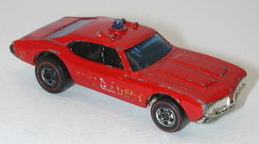 Redline Hotwheels Hotwheels Hotwheels Red 1975 Olds Fire Cruiser  oc15931 9d7a53