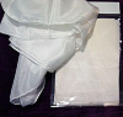 SEIDENTUCH Seidenschal 90x90cm Crepe de Chine 12 NEU reine Seide weiß