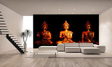 Three Statues of Buddha Wall Mural Photo Wallpaper GIANT DECOR Paper Poster