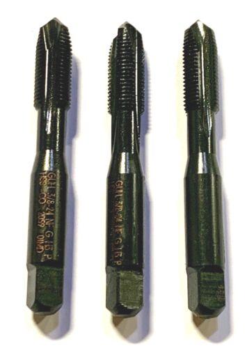Guhring 3//8-24 Cobalt Spiral Point Tap H3 Plug Taps 3 Flute 3 Pack