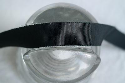 "1 yard 3/"" Kelly Green vtg cotton rayon petersham ribbon millinery hat"