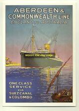 ad1972 - Aberdeen & Commonwealth Line - modern advert postcard