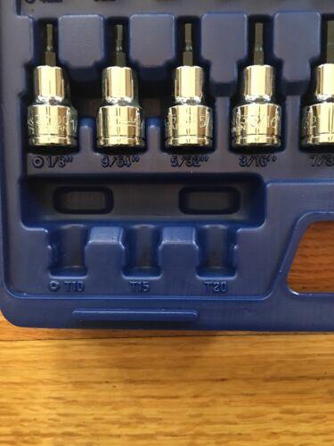 Williams 50681 1//4in and 3//8in Drive Bit Socket Set 25 pc Socket Set