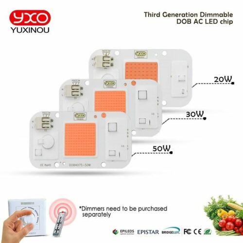 1pcs hydroponice AC 220 V 20 W 30 W 50 W COB DEL Grow Light Chip Full Spectrum 370 Presque comme neuf