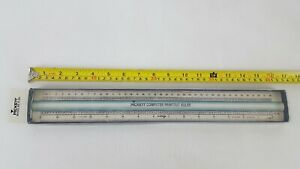 PICKET-COMPUTER-PRITOUT-RULER-WITH-MAGINIFIER-16-25-INCHES-LONG-WITH-ORIGINAL-BO