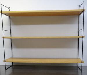 mid-century-danish-design-60s-Minimalistisches-String-Wand-Buecher-Regal-60er