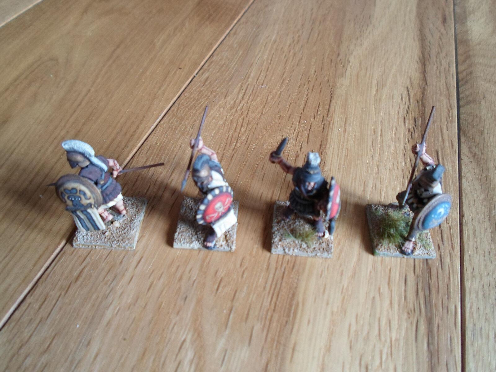 Greek Heroes Warriors Pro-Painted 4 Miniatures