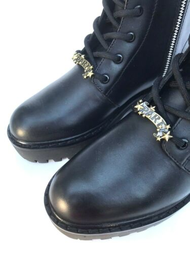 Leather Boots Black 5 Size 5158 Patch Uk 101 Zara Rrp 7 Military Ref £110 Ankle Tqgwxp5