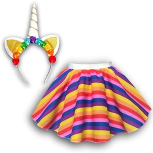 Le ragazze unicorno Gonna Cerchietto Costume Costume Festa Uk