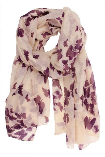 Butterfly Lady Women Fashion Stylish Soft Scarf Shawl Neck Wrap Headscarf Stole