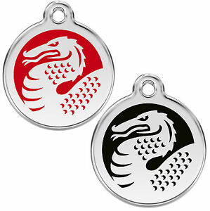 Dragon-Personalised-Engraved-Dog-Cat-ID-identity-Tags-discs-by-Red-Dingo