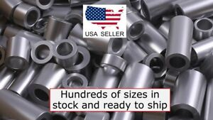 New-Aluminum-Spacer-Bushing-1-2-034-OD-x-1-4-034-ID-Fits-M6-or-1-4-034-Bolts