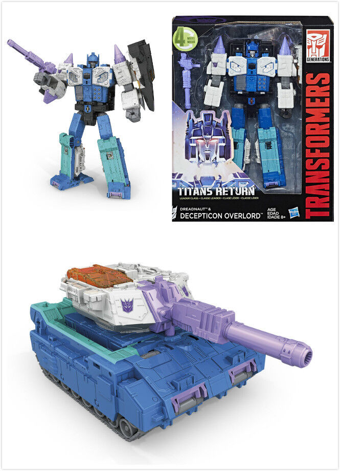 Brand New Transformers IDW Titans Return Leader DREADNAUT & DECEPTION OVERLORD