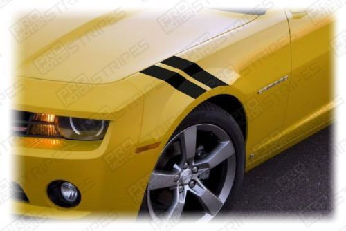 Chevrolet Camaro Fender Le Mans Style Hash Stripes Decals 2014 2015 Pro Motor