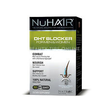 NuHair DHT Blocker Hair Regrowth Formula Men Women Nu Hair 60 Tablets