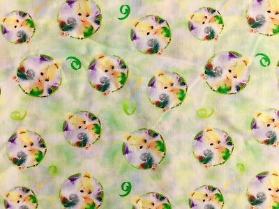 FQ DISNEY PETER PAN TINKERBELL FAIRY  POLYCOTTON FABRIC CHARACTER