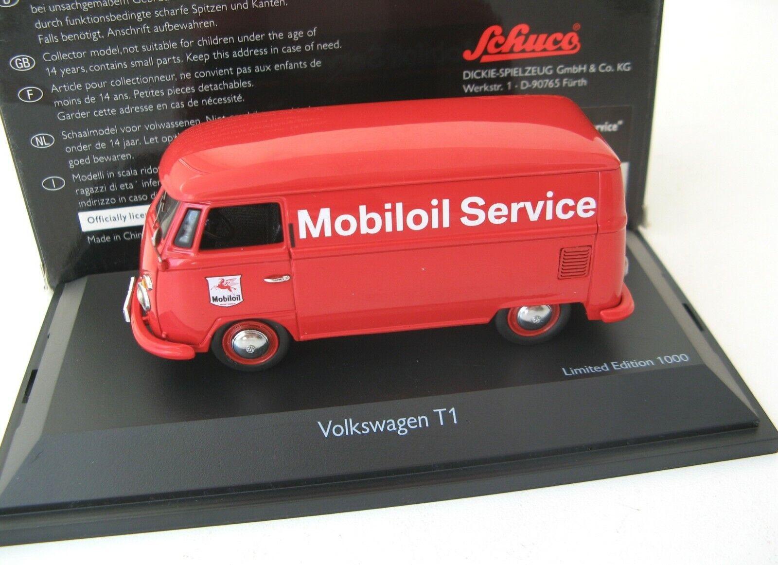 VW T1 Kasten Bulli Mobiloil Service  SCHUCO RARE