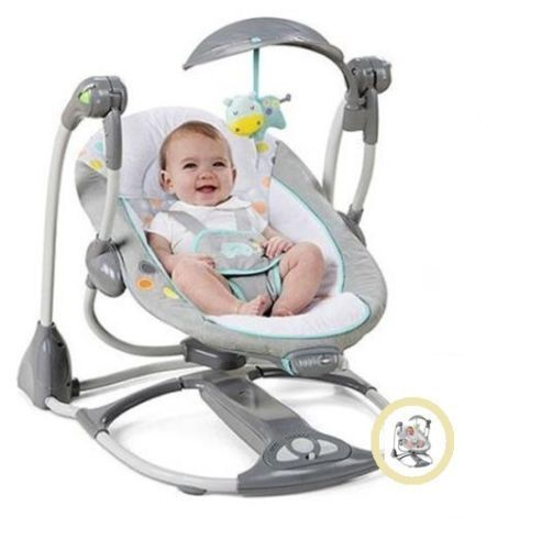 Incroyable Baby Swing 2 Seat Infant Toddler Rocker Chair Little Portable Convertible  NEW