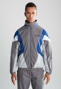 Ellesse-Mens-Track-Top-Jacket-Grey-Blue-Retro-Shell-Donatti-Brand-Loose-Fit-New