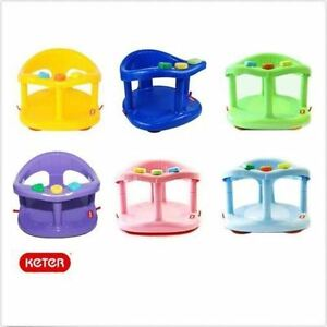 keter baby bath seat ring safety infant tub chair colors free fast shipping ebay. Black Bedroom Furniture Sets. Home Design Ideas