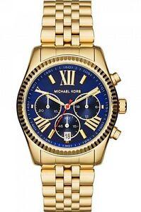 Michael-Kors-Watch-MK6206-Lexington-Midsize-Chrono-Blue-Face-Gold-Steel-Women