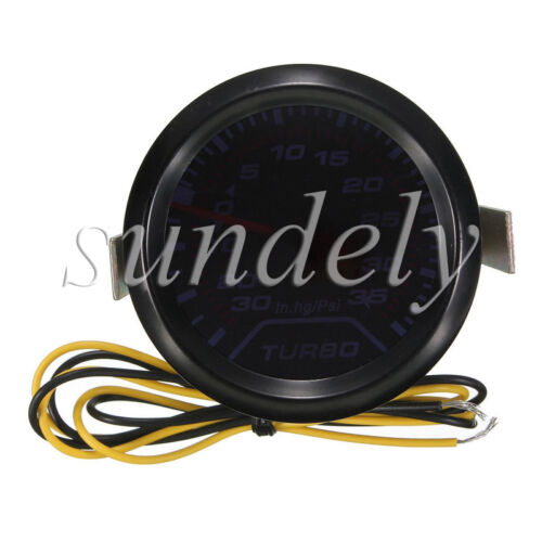 Universal 52mm 2″ LED Light Car Auto Turbo Boost Pressure Gauge Smoked Dials Psi