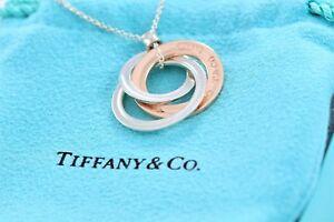 33173449f Image is loading Tiffany-amp-Co-Silver-Rubedo-Metal-1837-Interlocking-