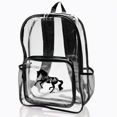 Black Gray Metro Galloping Horse Backpack Unisex Youth Adult