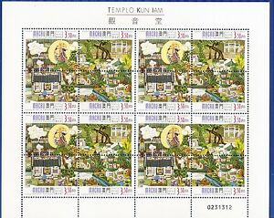 MACAO-CHINA- 1998-KUM IAM TEMPLE- MINI SHEET -16 stamps-(4x4)