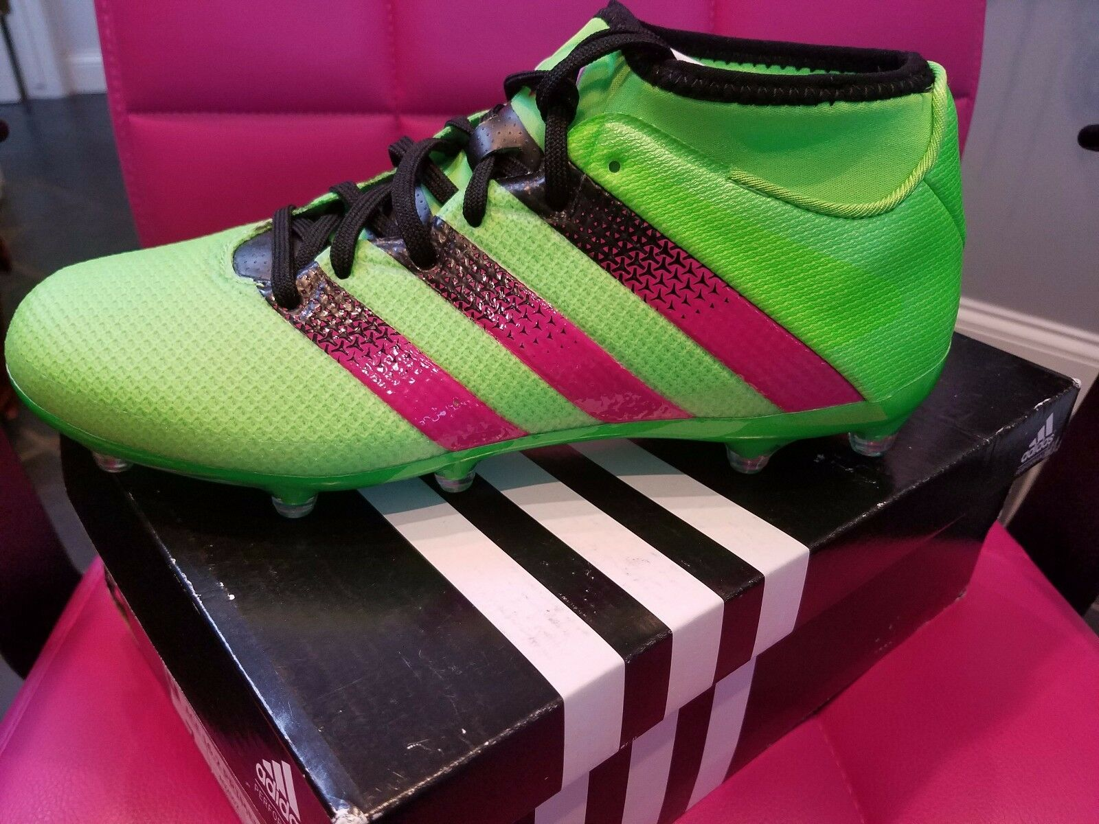 36ff80006 ADIDAS Ace 16.2 Primemesh AQ2552 FG AG Men s GREEN Soccer Cleats NEW IN BOX