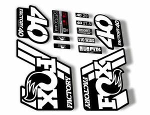 FOX 40 2021 Factory Forks Suspension Decals Sticker Set Adhesive Orange