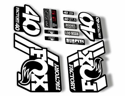 FOX 40 Float 2018-19 Forks Suspension Factory Decals Sticker Adhesive Red