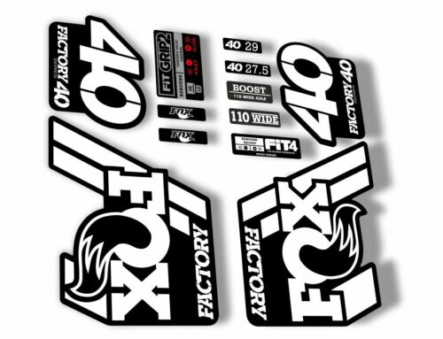 FOX 40 Float 2018-19 Forks Suspension Factory Decals Sticker Adhesive White
