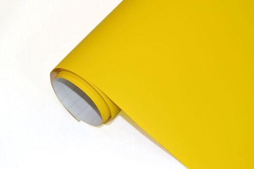 17€//m² Auto Folie gelb Matt 30 x 152 cm flexibel Blasenfrei Car Wrapping