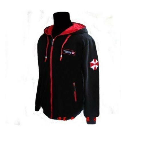 Black Resident Evil Umbrella Embroidery Slim Jacket Coat Costumes m-xxl