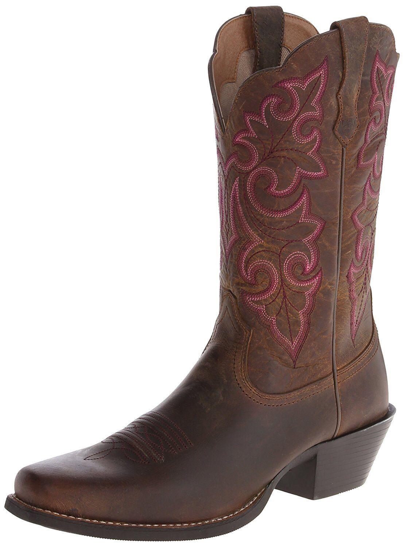 Ariat redondear Puntera Western Cuadrada para mujer Western Puntera Cowboy Botas-elegir talla/color. 0ab3c5