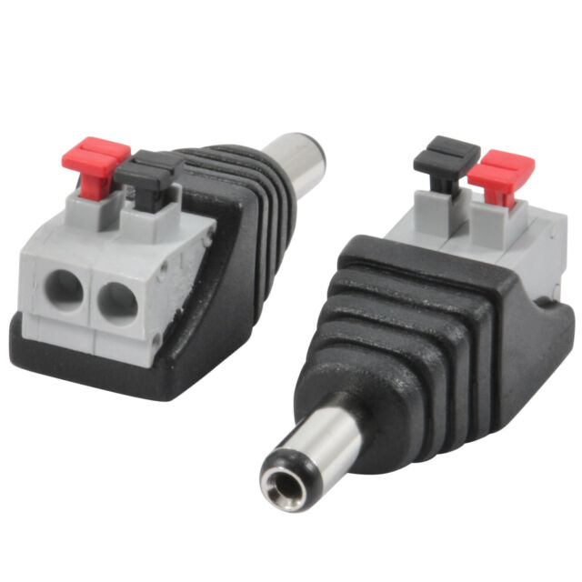 100X 5.5 x 2.1mm 12V //24V DC Female Power Connector Adapter Jack for CCTV Camera