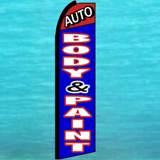Auto Body Amp Paint Shop Swooper Flag Tall Advertising Sign Flutter Feather Banner